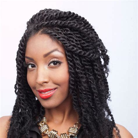 human hair using twists twist using soft textured afro kinky human hair installed