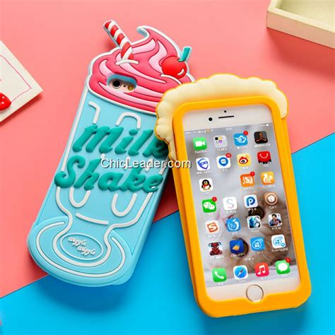 3d crayfish milk shake silicone for iphone 8 plus 7 plus 5 5 inch