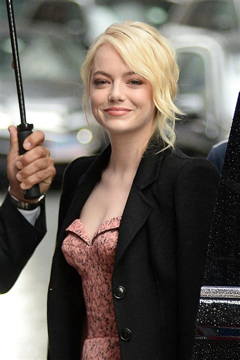 emma stone colbert emma stone emmastone arriving at the late show with