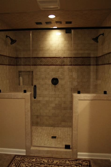 Master Bathroom With Walk In Shower Can This General Shower Design Work In A Standard Tub Area Say 3 X 5