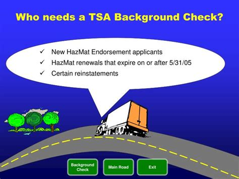 Cdl Hazmat Endorsement Background Check Ppt Hazmat Powerpoint Presentation Id 1779850