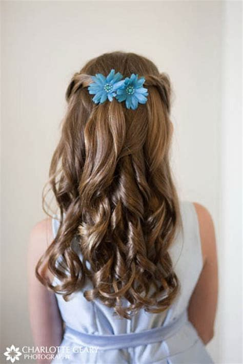 flower girl hairstyles half up flower girl hairstyles for long hair