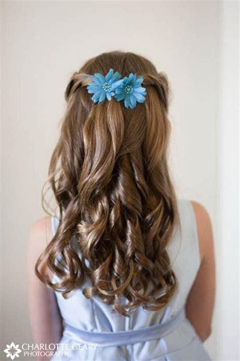 flower girl hairstyles long curly hair flower girl hairstyles for long hair