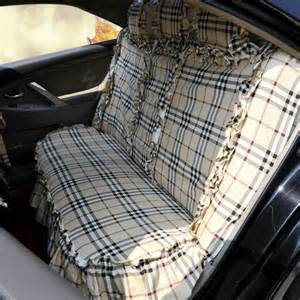 Tartan Car Seat Covers For Sale Buy Wholesale Universal Cotton Flowered Print Plaid Folds
