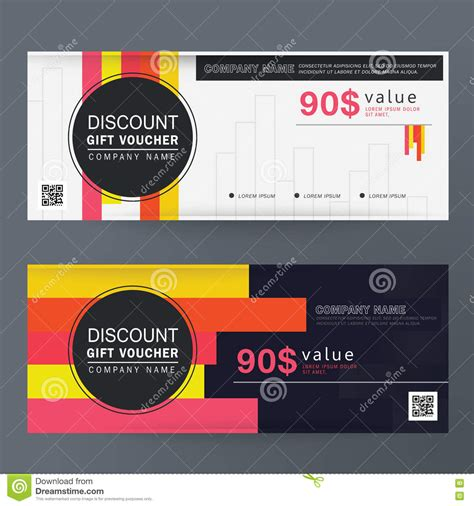 discount vouchers on premier inn gift voucher template design concept for gift coupon