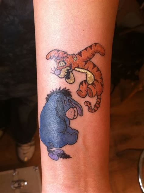 eeyore tattoo tigger and eeyore tattoos tigger and eeyore