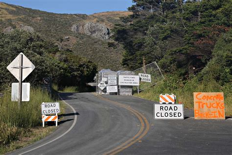 Pch Construction - the pacific coast highway near stinson beach is nothing but a long long construction