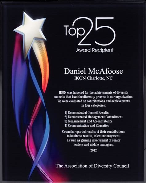 star award dynamic design plaque