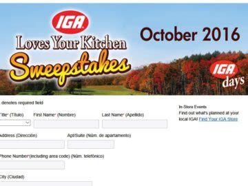 Kitchen Sweepstakes 2016 - the 2016 iga loves your kitchen sweepstakes
