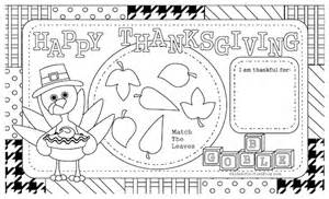 thanksgiving coloring placemats here s a lovely thanksgiving placemat to color this