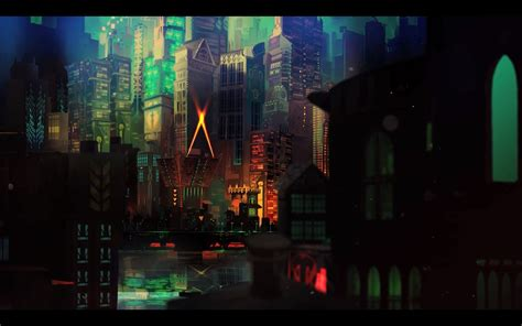 transistor game wallpaper iphone transistor video games cityscape wallpapers hd desktop