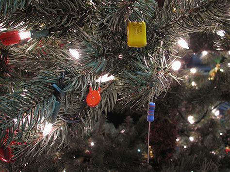 cool christmas tree decoration idea for engineers and