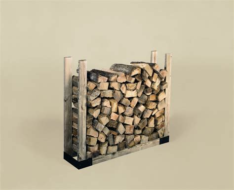 Firewood Rack Bracket Kit by Black Painted Steel Log Rack Bracket Kit