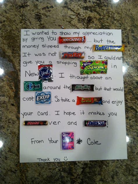 teacher appreciation week at school candy bar thank you