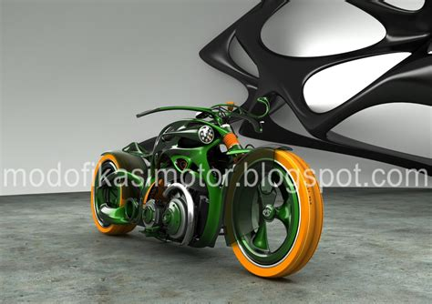 Modifikasi Vespa Style by Modifikasi Motor Vespa Chopper Green Style Concept
