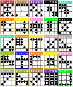 bingo pattern exles 7 best images of printable bingo pattern exles