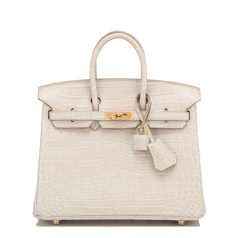 Richards And Hermes Birkin Bag by Hermes Birkin Bag 25cm Beton Matte Nilo Crocodile Gold