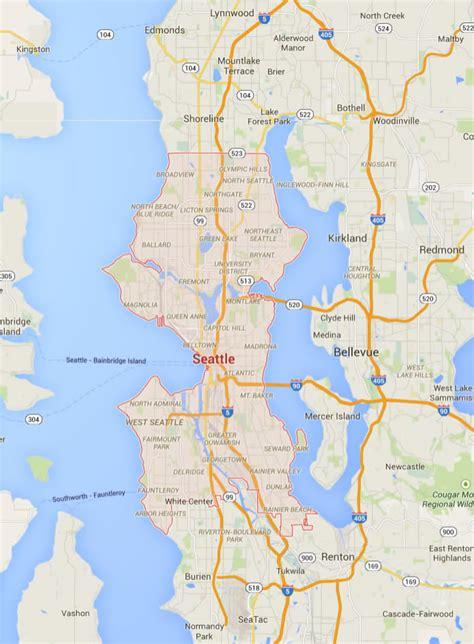 seattle map satellite seattle washington map