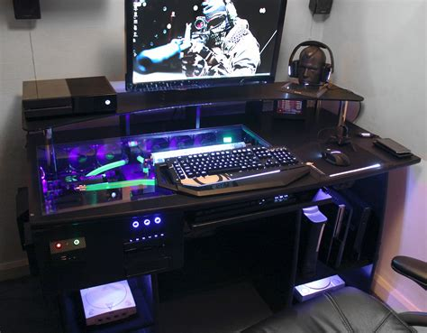 ultimate gaming pc custom desk build log