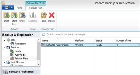 veeams replica failover  vmware vm replicas recovery