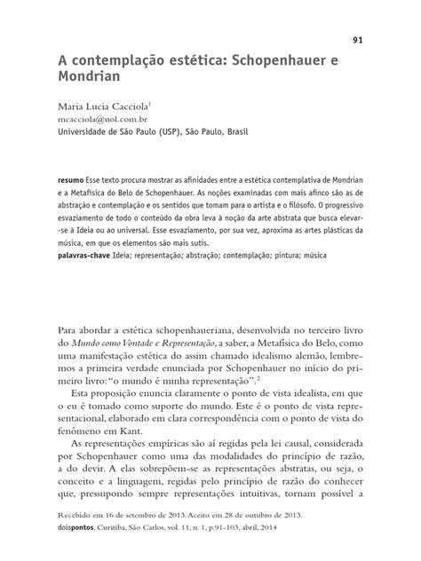 Schopenhauer e Mondrian | Arthur Schopenhauer | Estética