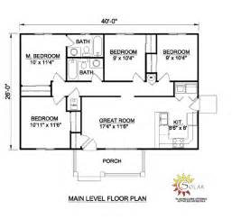 house plans one level house plan 94451 at familyhomeplans