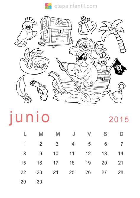 Calendario Mes De Junio 2015 Calendarios Mes De Junio 2015 Para Imprimir Y Pintar