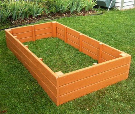 recycled plastic raised garden bed 4 x 8 x 16 5