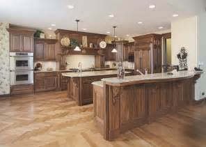 Walnut Kitchen Cabinets Granite Countertops - walnut kitchen traditional kitchen columbus by schlabach wood design