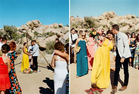 Wedding Ceremony Joshua Tree by Retro Desert Wedding In Joshua Tree Davis Chris Green