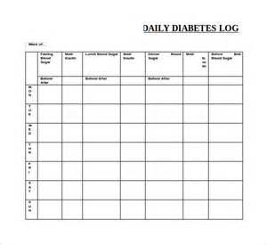 Diabetes Log Template by Sle Blood Sugar Log Template 8 Free Documents In Pdf