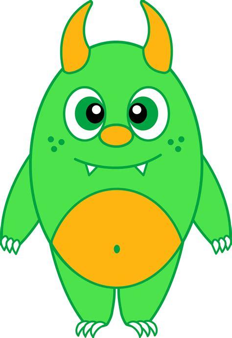 silly  green monster  clip art