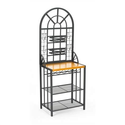 Bakers Rack With Wine Storage southern enterprises dome w wine storage bakers rack ebay