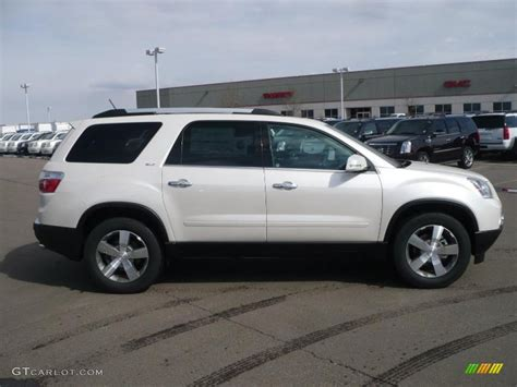 2010 white tricoat gmc acadia slt awd 26399036 photo 3 gtcarlot car color