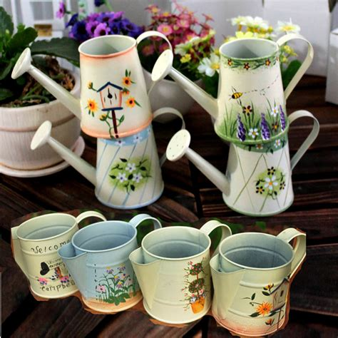 decorative watering cans zakka wholesale fashion mini iron countryside decorative
