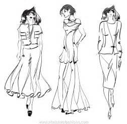fashion design sketch model template black models picture