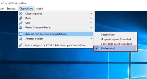 barra superior virtualbox como transferir arquivos no virtualbox dicas e tutoriais