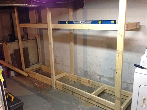 woodwork 2x4 basement shelf plans pdf plans