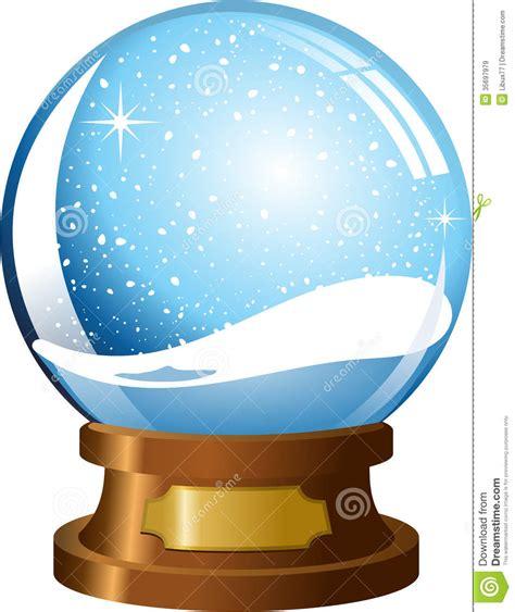 blank snow globe clipart