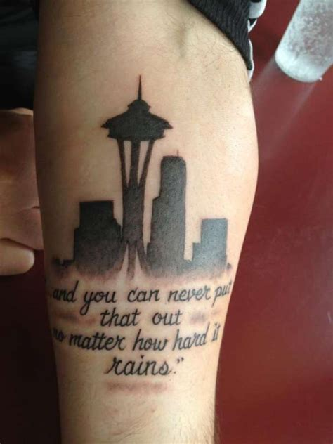 seattle skyline tattoo seattle skyline