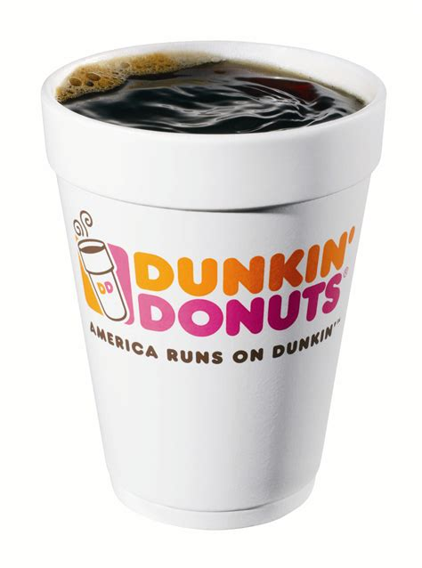 Coffee Dunkin Donuts is in the air at dunkin donuts