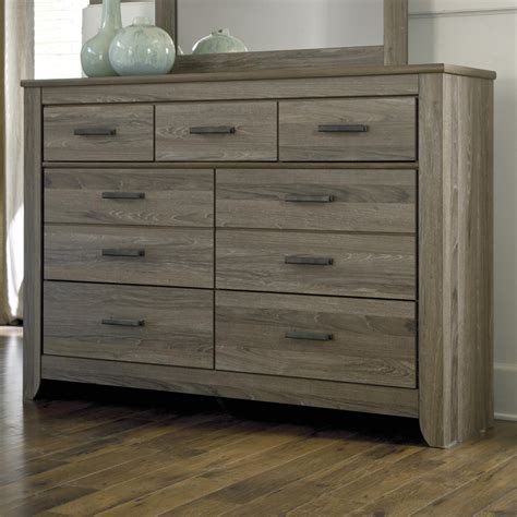 tall dresser bedroom furniture signature design by ashley zelen b248 31 rustic tall dresser with 7 drawers del sol furniture