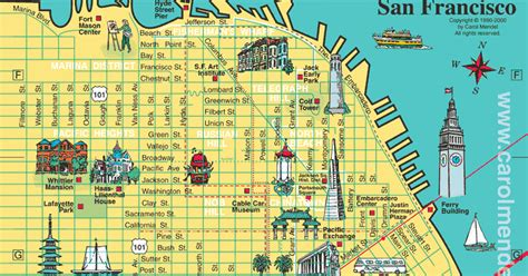 san francisco map attractions san francisco city tourist maps pictures california map