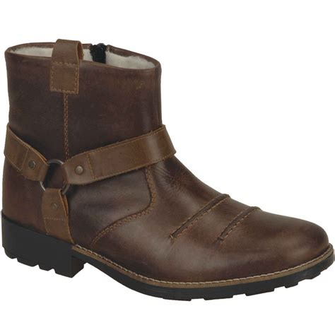 rieker richard mens brown leather ankle boots 36062