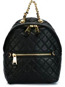 moschino quilted backpack in black lyst