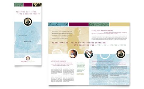 Financial Marketing Brochure Flyers Graphic Designs Financial Services Template