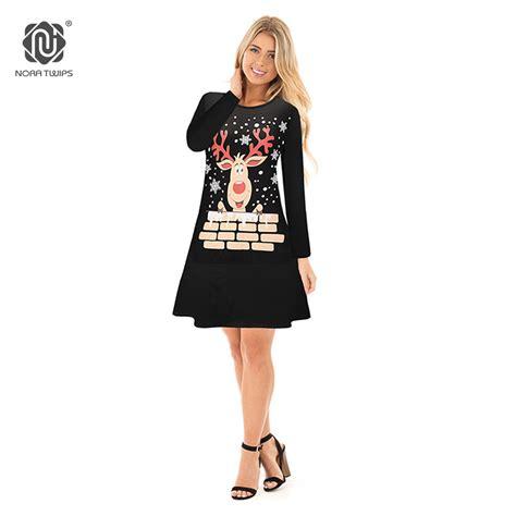 nora twips christmas dress women long sleeve christmas
