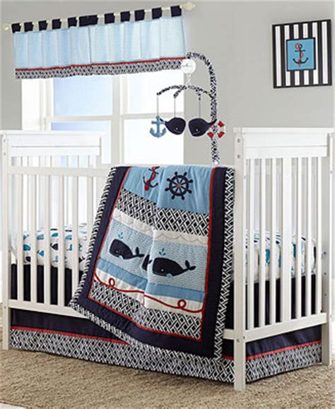 Nautica Whale Of A Tail Crib Bedding Collection Bed In A Macys Crib Bedding