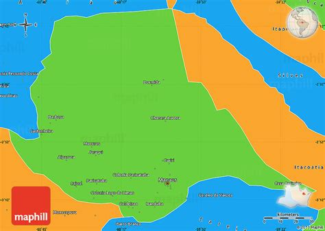 map of manaus political simple map of manaus