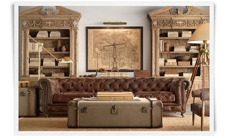 restoration hardware living rooms couture d 233 cor 10 ways to masculinize your home with the